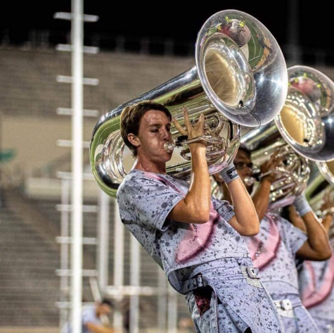 NHHS alum John Drake performs Vox Eversio for the Santa Clara Vanguard in 2019